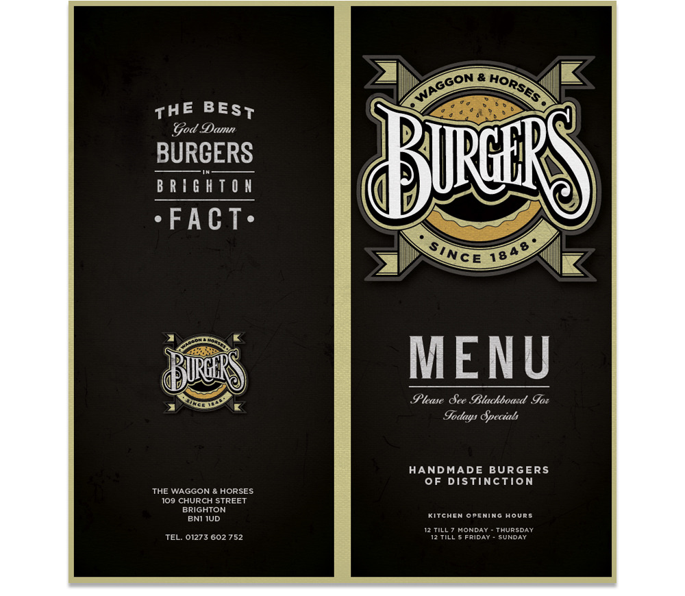 Waggon Amp Horses Burgers Jon May Design Amp Illustration