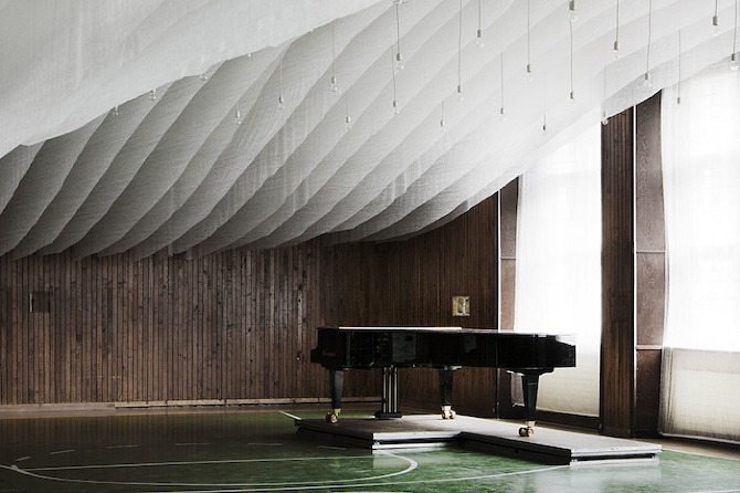 Concert hall installation in the Archabbey of Pannonhalma, interior, design, thisispaper, magazine