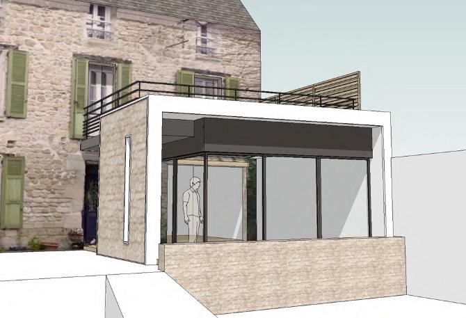extension d 39 une maison individuelle charlotte vauvillier architecte d 39 int rieur. Black Bedroom Furniture Sets. Home Design Ideas