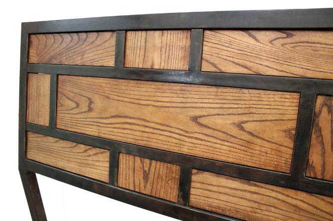 metal wood headboard 1
